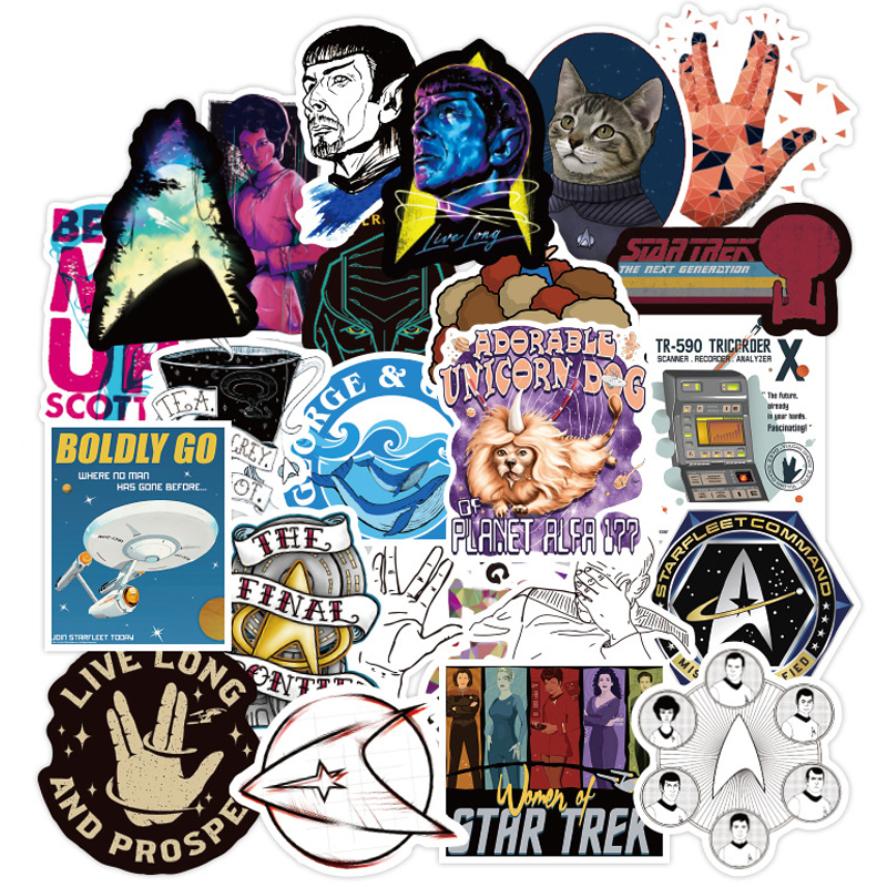 70PCS Star Trek Space Cartoon Graffiti Sticker For Luggage Car Guaitar Skateboard Phone Laptop DIY Bicycle Decals Stickers F5