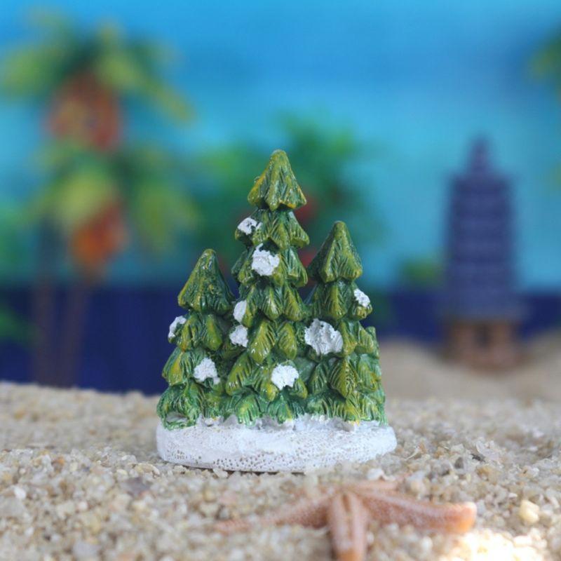 Aquarium Fish Tank Resin Ornaments Crafts Christmas Tree Home Decor Xmas Gift