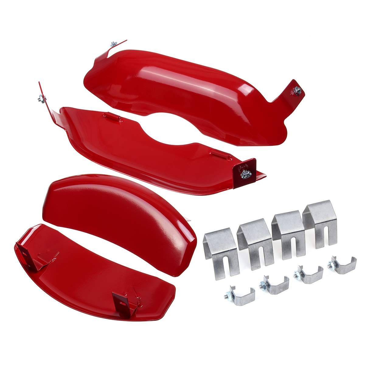 Caliper-Cover Car-Disc-Brake Tesla Front Red Aluminum 4pcs for 3 title=
