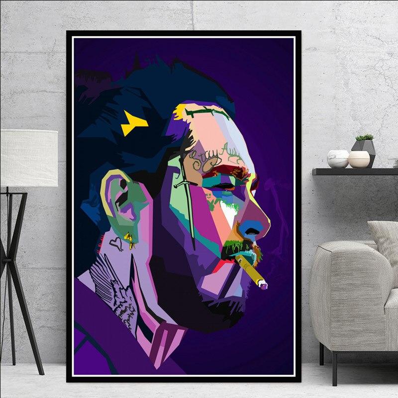 E1077 Post Malone Great Rap Star Music Art Silk Poster