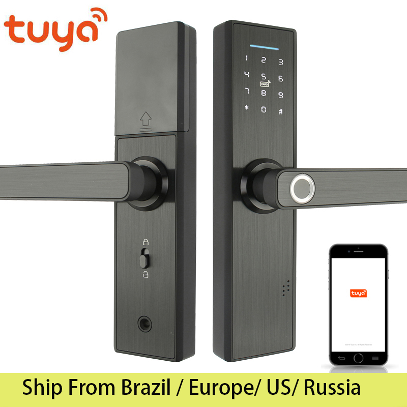 Wifi Lock Fingerprint-Lock Drawing-Panel Tuya Smart-Card Digital-Code Electronic Home-Security title=