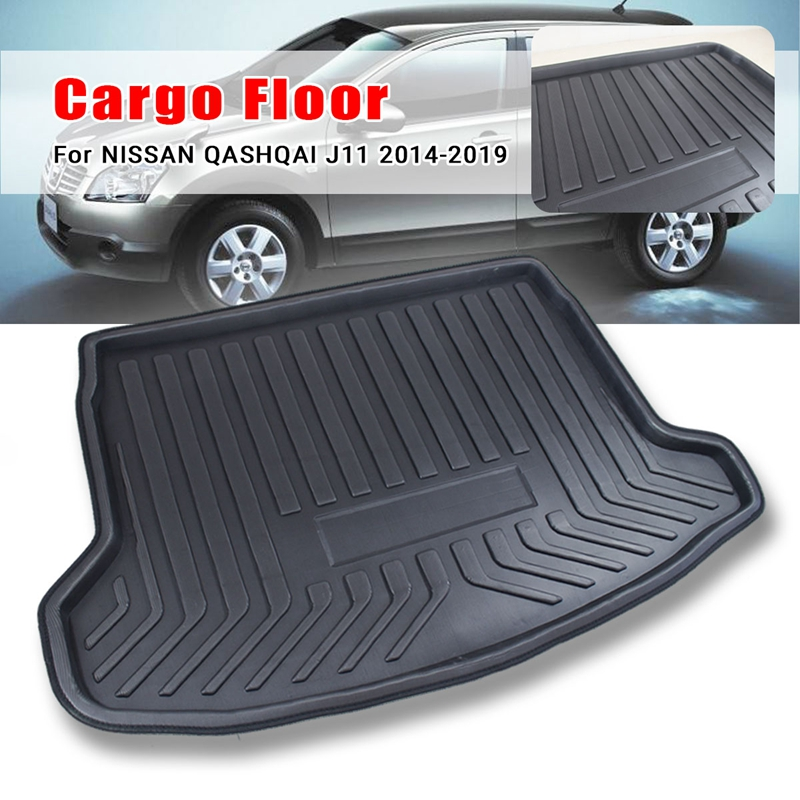 Floor-Carpet Nissan Dualis Qashqai Boot-Liner Cargo-Mat Rear Trunk Tray for Mud-Kick title=