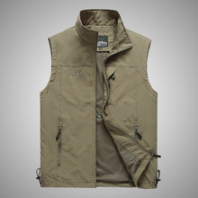 Men's Hiking Vest Spring Autumn Breathable Quick Drying Fishing Waistcoat Outdoor Hunting Vests Plus Size M-5XL Colete Tatico