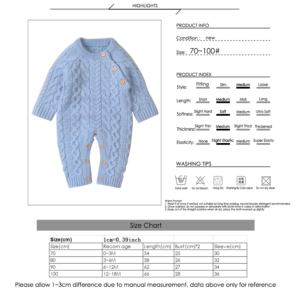 Baby Boy Tattoo Printed Sleeve Romper Autumn Winter Bodysuit Onesie Pajamas Outfit Clothes for 0-18M Grey, 80//3-6M