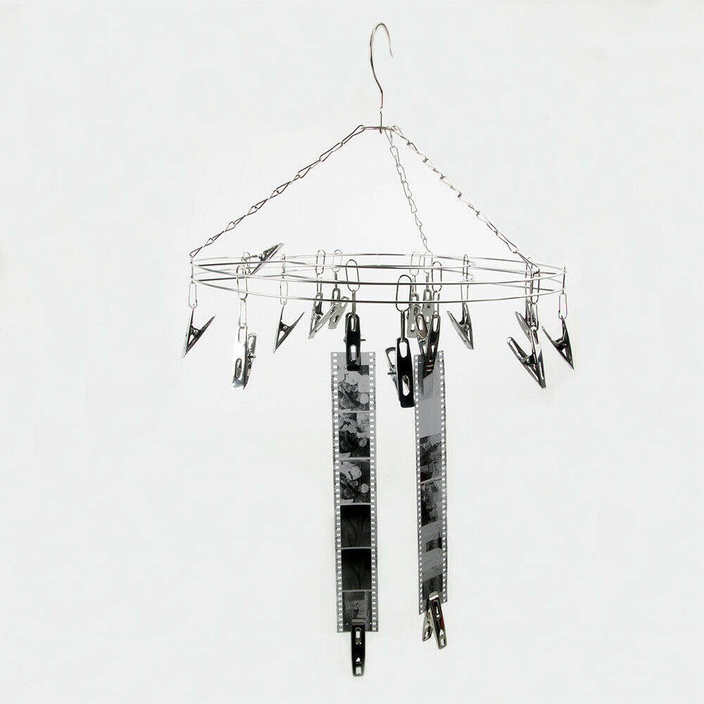 Darkroom Film Negative Drying Hanging Rack Frame Hanger 25 Clips for 35mm 120 4x5 Film