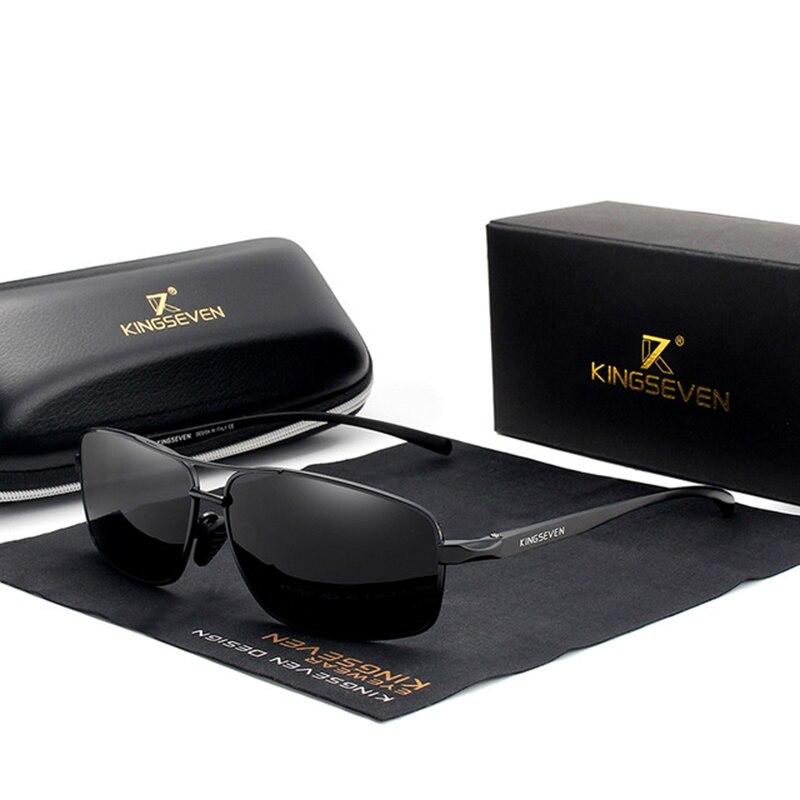 Мужские Винтажные Солнцезащитные очки KINGSEVEN, брендовые дизайнерские Квадратные Классические очки с поляризационными стеклами, UV400, N7088