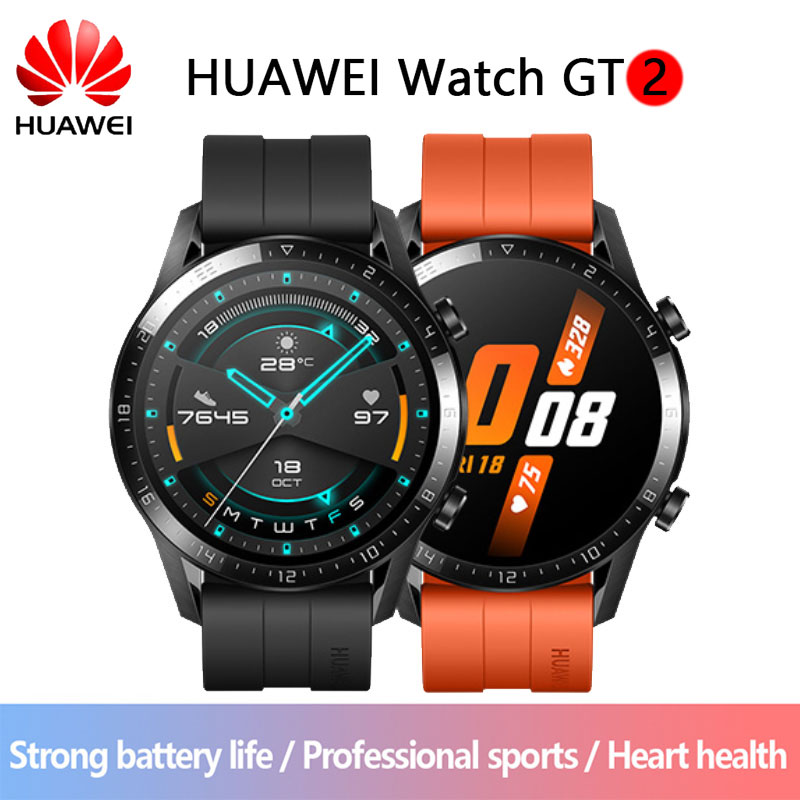 Huawei Watch GT 2 Smart watch blood oxygen tracker spo2 Bluetooth Smartwatch 5.1 Phone Call Heart Rate Tracker Music Player For semiro スマート ウォッチ 2019