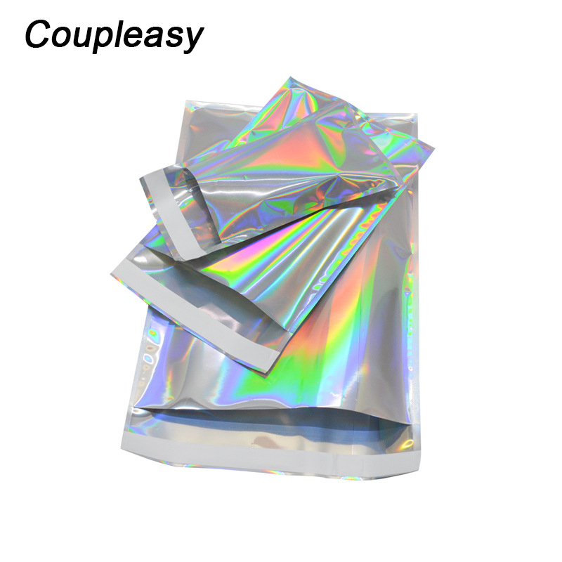 50Pcs/Lot Colorful Poly Mailer Laser Color Shipping Bags Mailer Self Seal Plastic Envelope Waterproof Mailing Envelopes title=