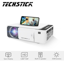 Techstick Projector Full HD 1080P Led Mirroring Projector 4K Wireless Sync Display Beamer