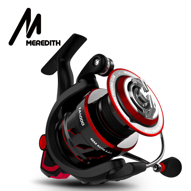 MEREDITH Fishing-Reel Carbon-Fiber Freshwater Max Drag ZA 2000-4000-Series title=