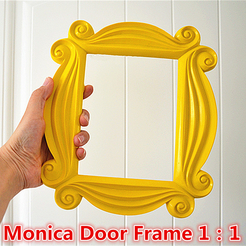 TV Series Friends Handmade Monica Door Frame Wood Yellow Photo Frames Collectible Home Decor Collection Cosplay Gift