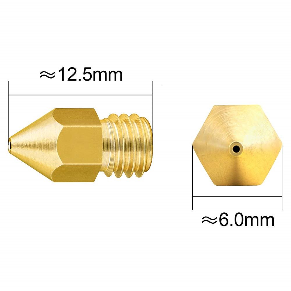 0.4mm 44PCS 3D Printer Nozzles MK8 Extruder Head for Creality CR-10 0.2mm 1.0mm 0.5mm 0.6mm 0.3mm 0.8mm