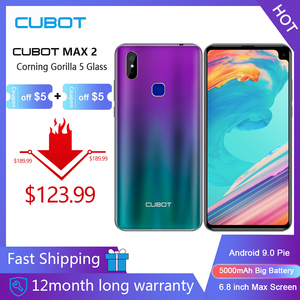 Cubot Max-2 Android 64GB Octa Core Face Recognition 12MP Refurbished 5000mah Smartphone title=