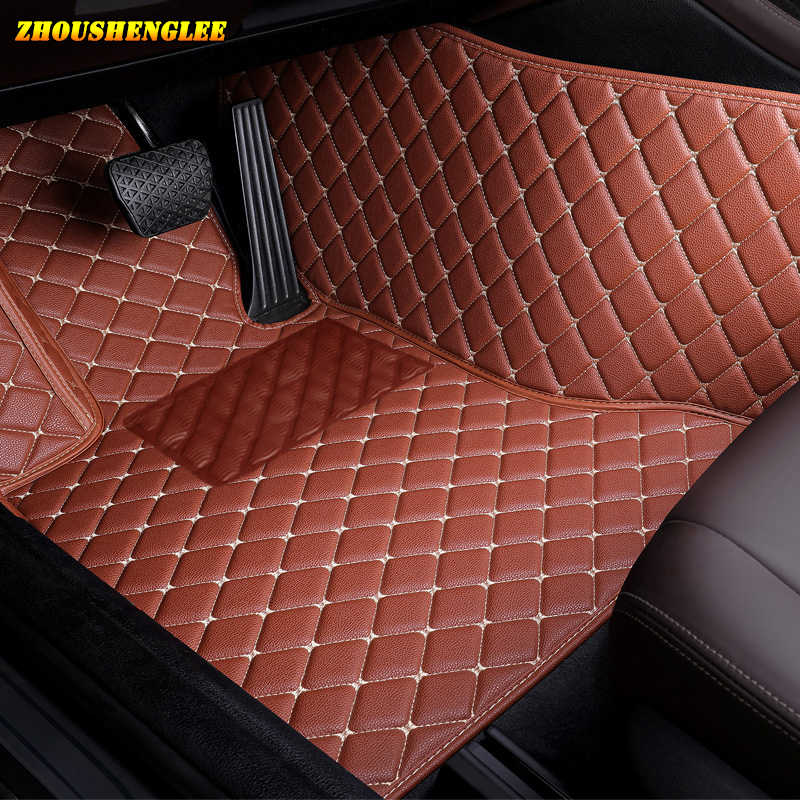 custom car floor mats for hyundai santa fe getz tucson ix25 ix35 creta elantra kona i30 leather all models car mats accessories