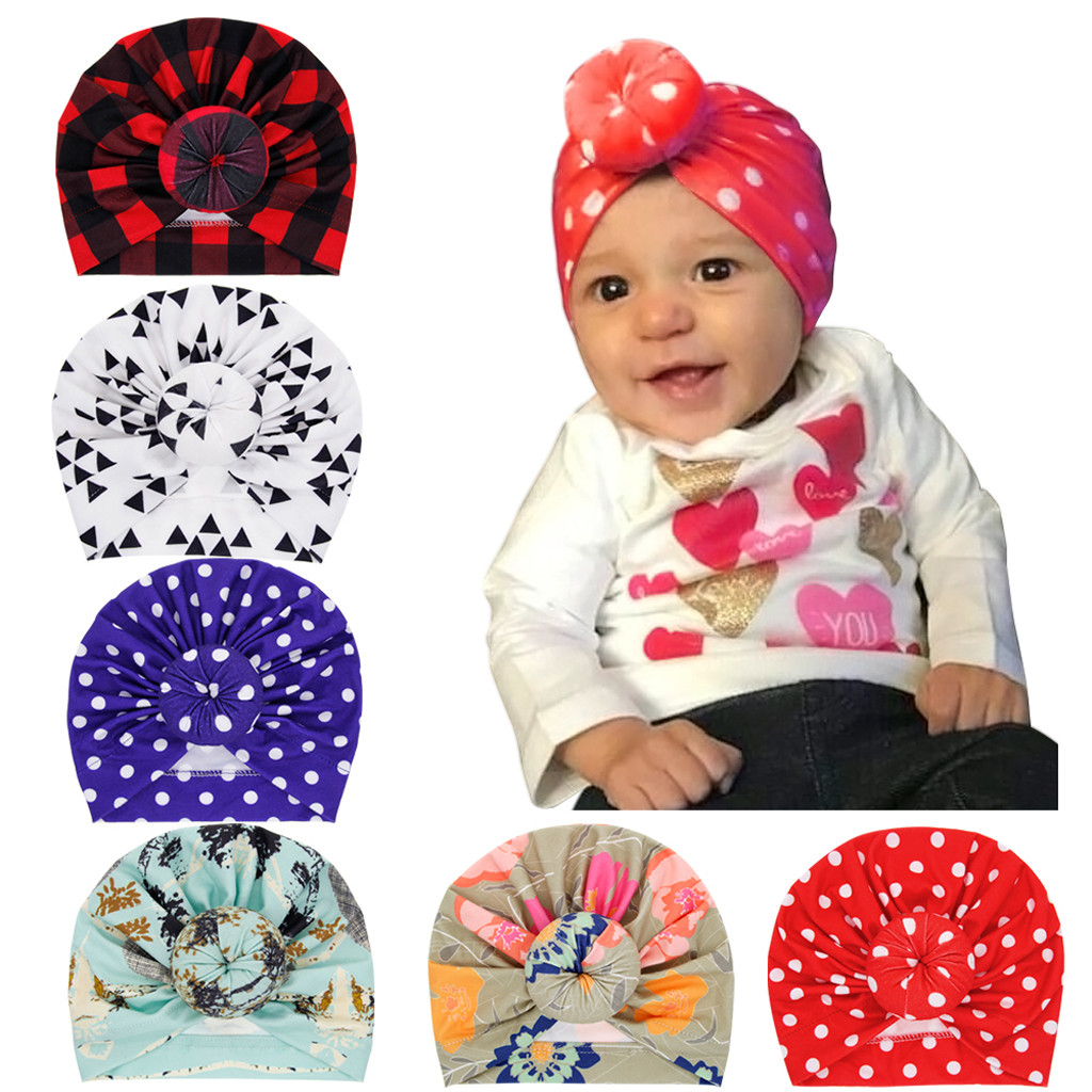 Newborn Flower Baby Cap Kids Infant Girl Hat Cap Beanie Hair Accessories Hats