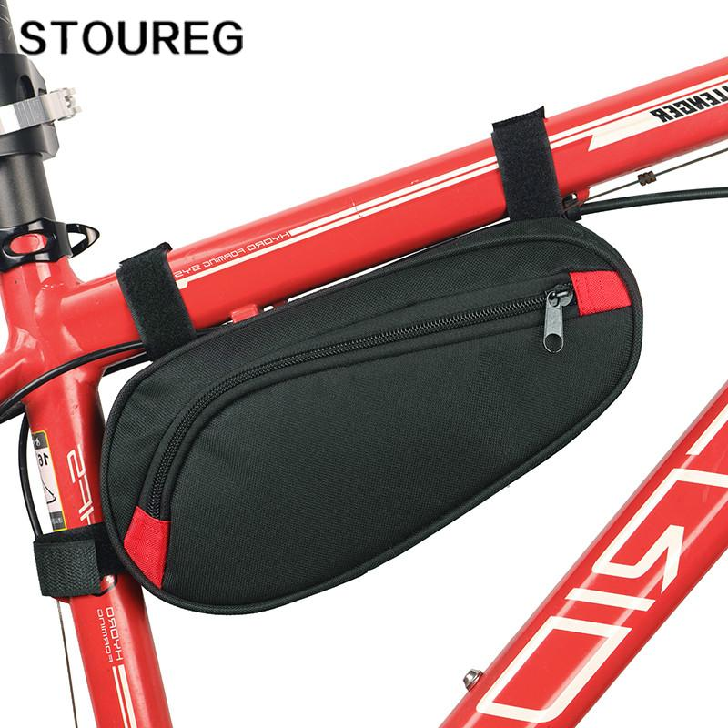 Waterproof Bicycle Triangle Tube Bag MTB Road Bike Frame Bag Repair Tool Pannier