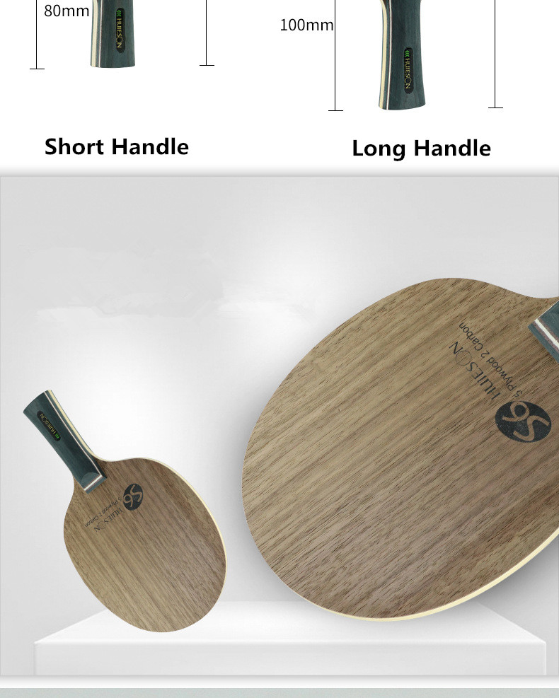 Super Quality Table Tennis Racket Blade Walnut Ayous 5 Plywood 2 Ply Carbon Ping Pong Blade for Senior Players S6 (3)
