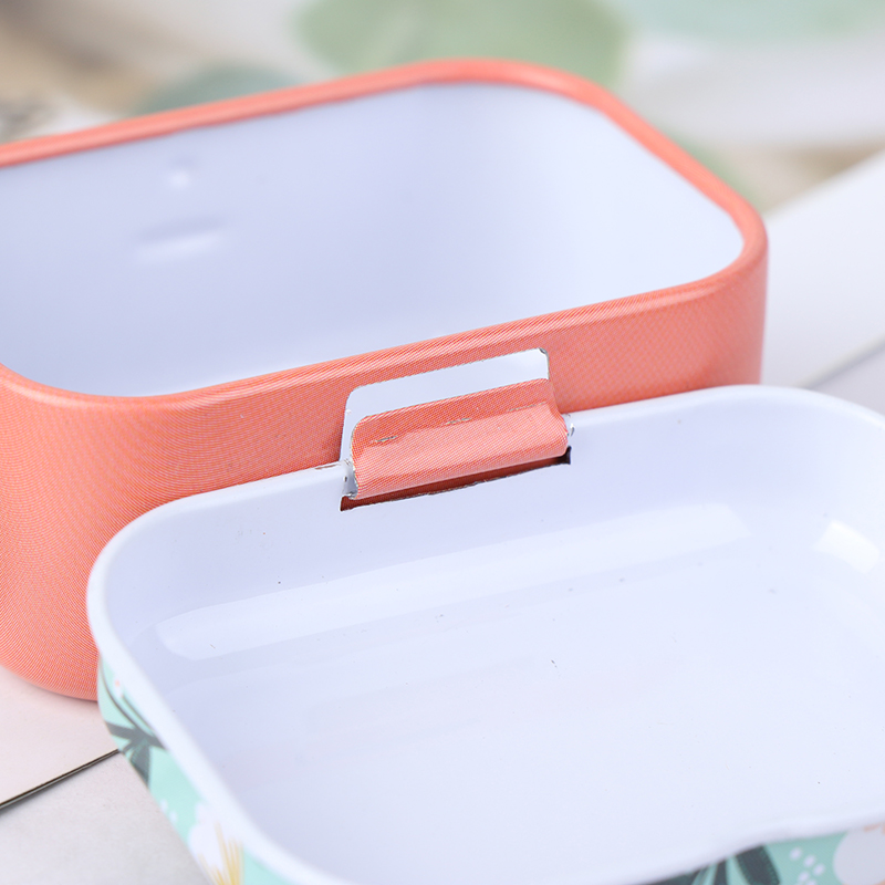 Lavender mini tin box Sealed jar packing boxes jewelry candy box smalYJK5