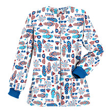 Blouse Tops Salon Pocket Nurse-Uniform Working Winter Home-Beauty Women's Long-Sleeve