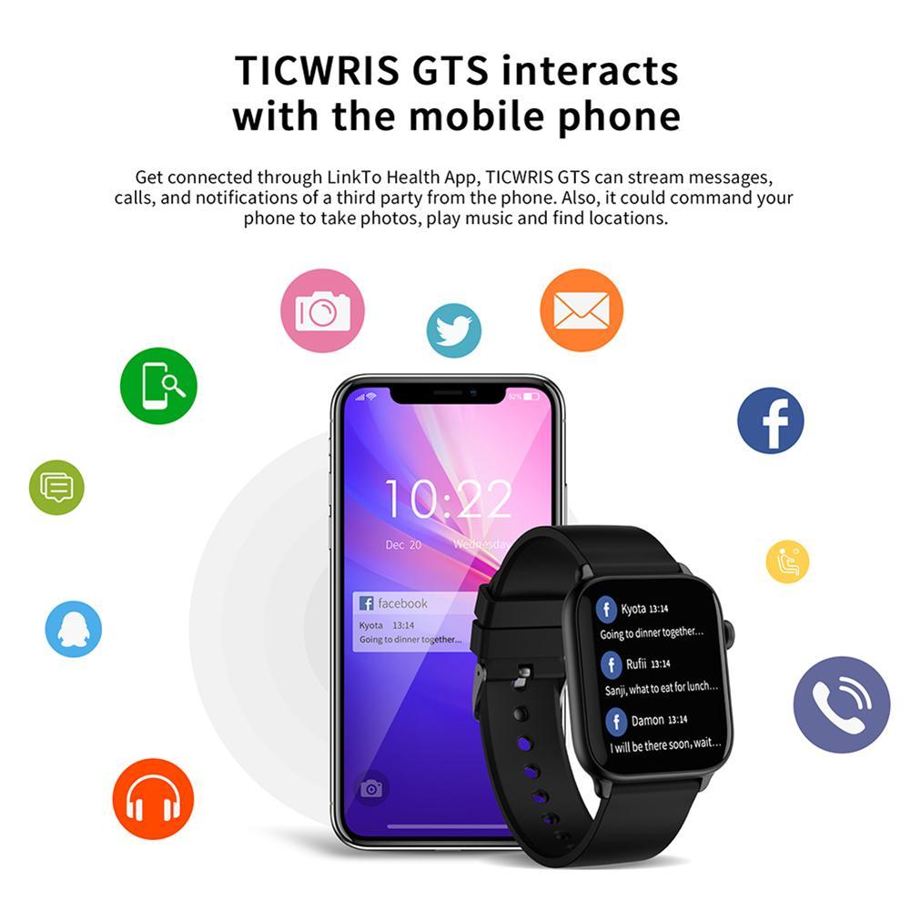 Phone - IP68 Waterproof Smart Watch Men Round Screen Heart Rate Blood Pressure Monitoring Smart Watch