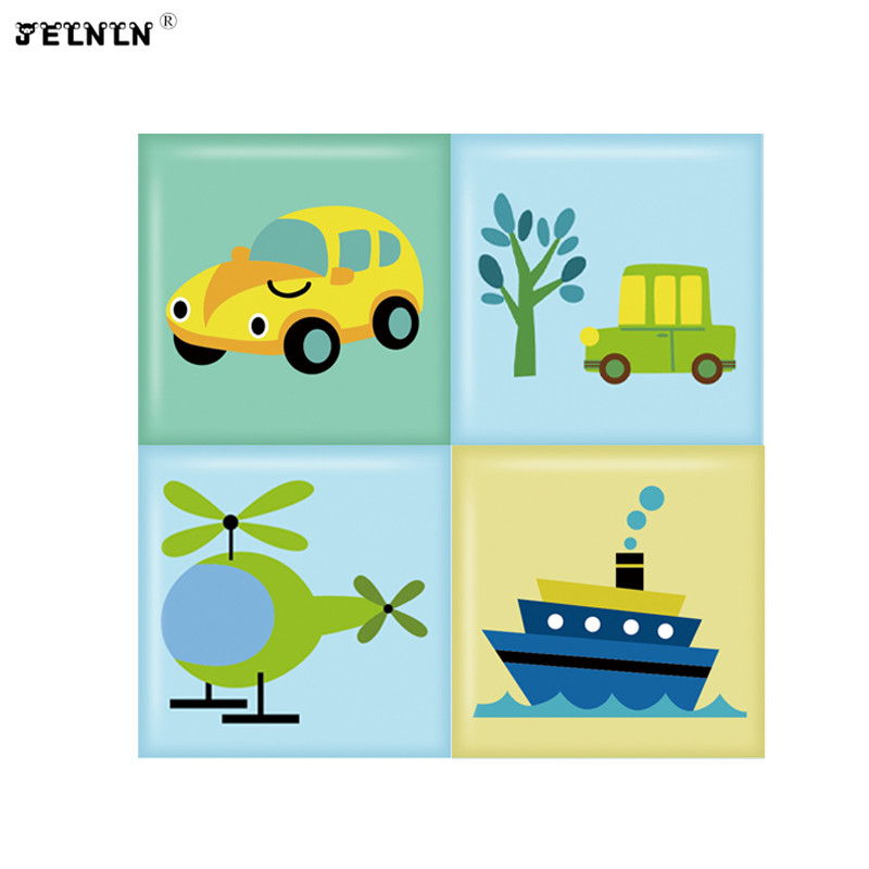 Cartoon car pattern kids room anti-collision soft package transportation tatami wall surrounding kindergarten baby wall stickers