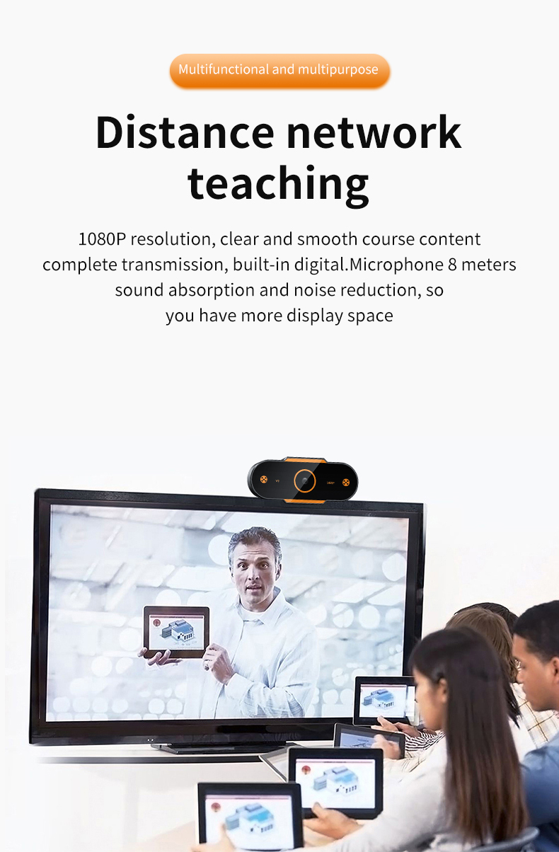 Human - Auto Focus 1944P HD Webcam 1080P web camera With Microphone smart Webcams for Live Broadcast Video Calling Home Conference Work
