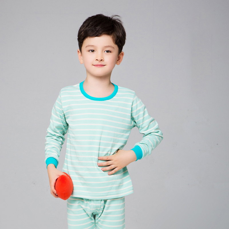 NANJIREN Kids Pajamas Girls Boys 100% Cotton Striped Sleepwear Nightwear Baby Clothes 4~18T Pajama Sets Children/'s Pajamas