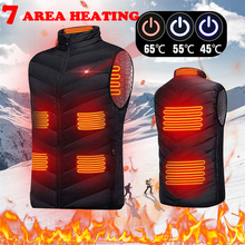 Heating-Vest Heated-Jacket Thermal-Clothing Men Women Usb Plus-Size S-4XL 8/9-Zones