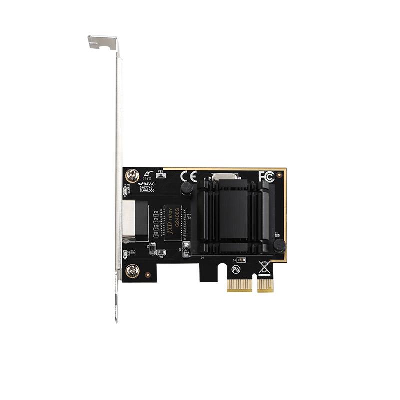 2020 New Arrival Intel chipset 1210AT 10/100/1000Mbps PCIe 1x Gigabit NIC