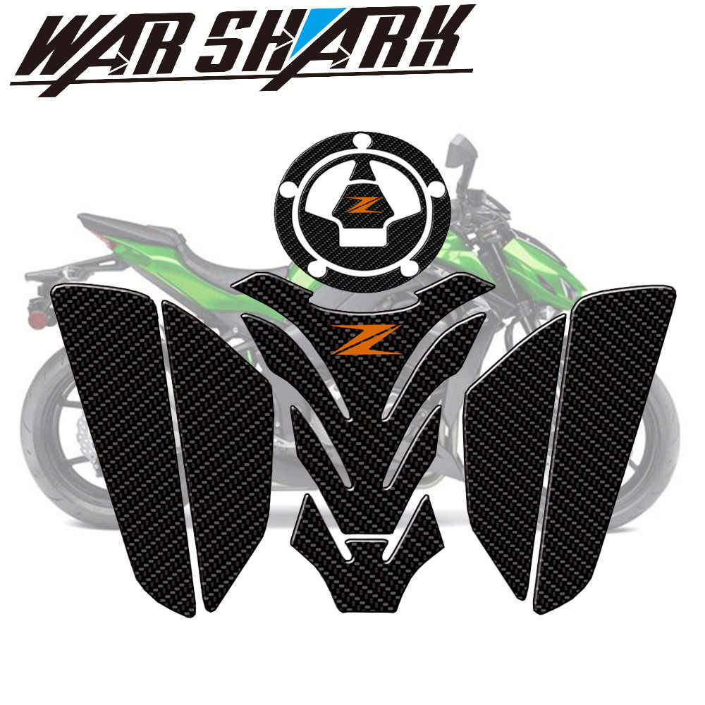 Motorbike stickers For Kawasaki Ninja Z900 Z 900 Tank Gas Fuel Oil Pad Protector Stickers Decals Fish Bone Motorcycle 2018 2019 Color : A