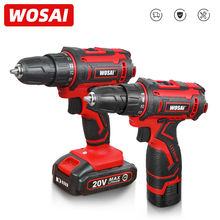 WOSAI 12V 16V 20V Cordless Drill lithium-ion Battery Electric Screwdriver 25+1 Torque