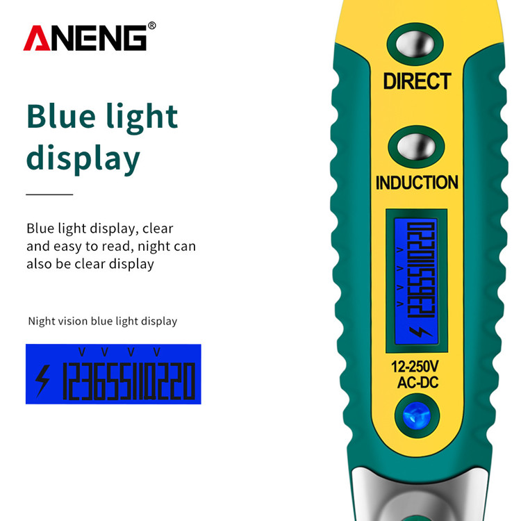 Details about  /1 Multi-function Safety Digital Tester With LED Electrician US 3KIND Pencil P0S0