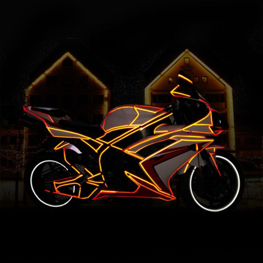 F FIERCE CYCLE 314.96 Waterproof Reflective Tape Sticker Warning Tape Black Orange for Bike Motorcycle