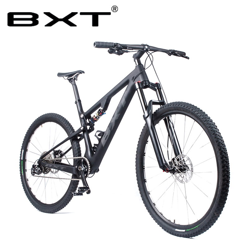 BXT 29er Full Suspension Mountain Bicycle T800 Carbon MTB Bike 11Speed Carbon  title=