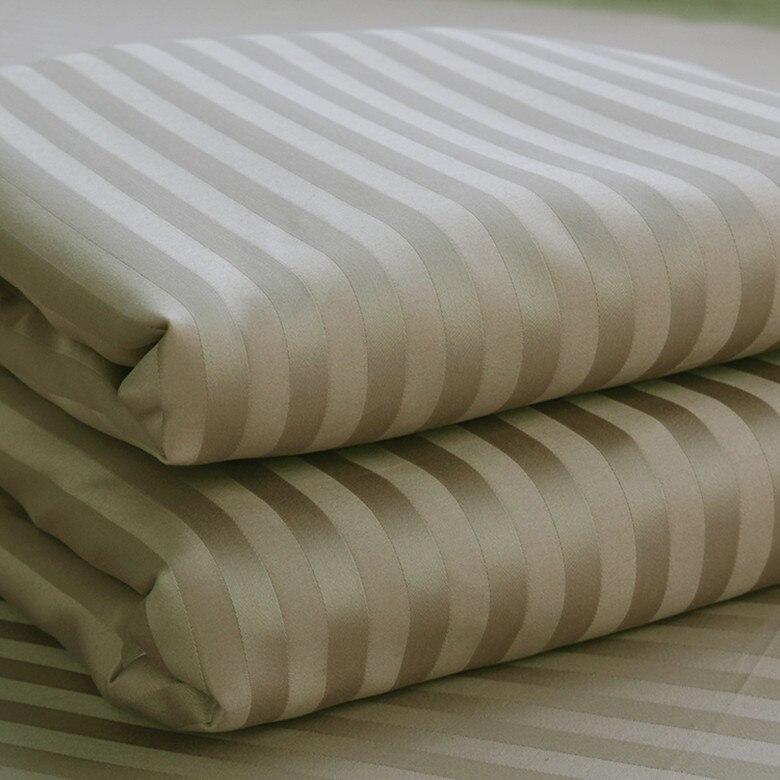 Flat Sheet 100/% Egyptian Cotton Satin Stripe 250 TC Single Double super King