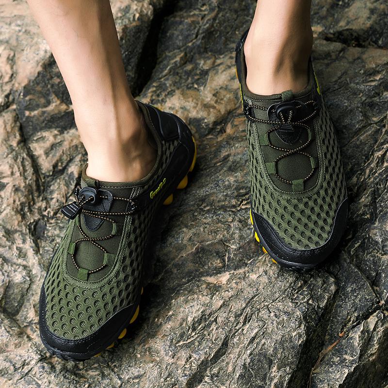 Aqua Shoes Ultra-light Quick-drying Beach Water River Walking 2019 Summer Men Mesh Breathable Flotillas Outdoor Hiking (32)