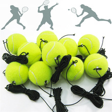 Tennis-Training-Ball Rope with 4m Elastic Rebound Practice-Ball String Professional Portable