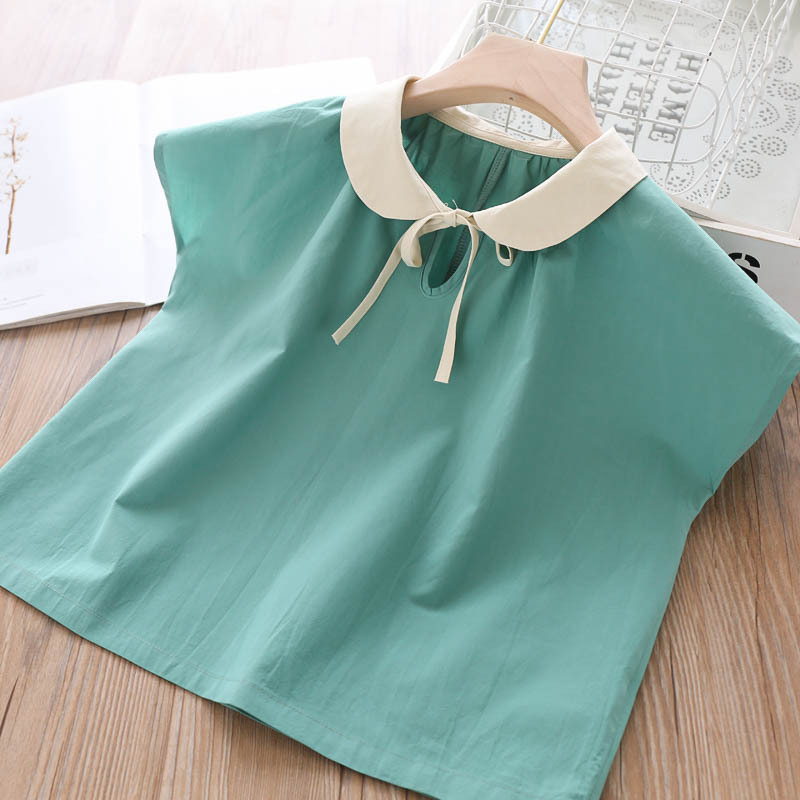 2020 Summer Girls Lace-up Shirts Baby Wear Children/'s Clothing Wholesale