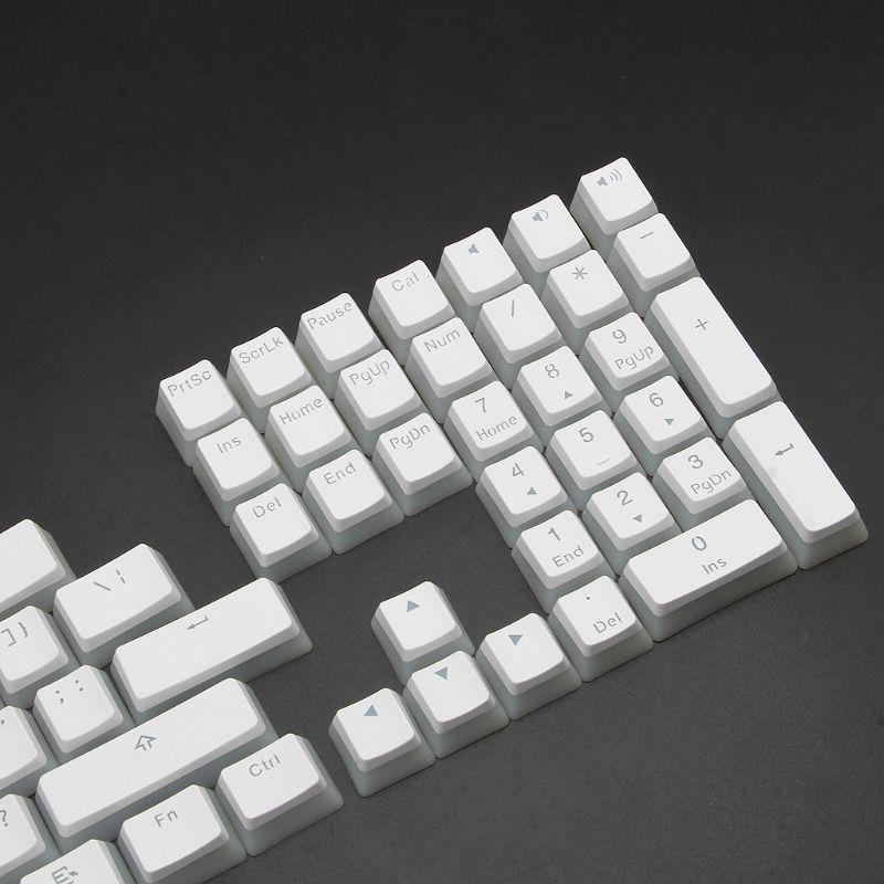 108 ANSI Layout PBT Double Skin Milk S Backlit Keycap For OEM Cherry MX GOLDEN2STAR