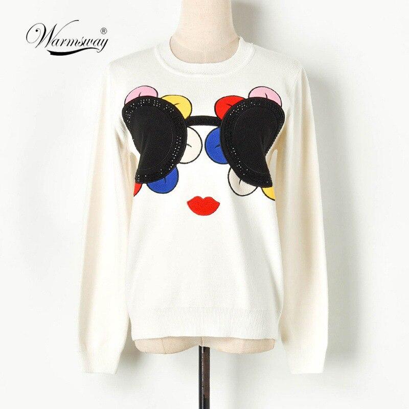 Streetwear Sun Flower Sweater pull femme Sunglass  glitter stone Well Made Blusas De Inverno Feminina Pullover C-328