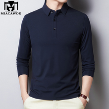 Men Clothing Shirt Long-Sleeve Slim-Fit Classic New Male Cotton Solid T894 Tee Homme