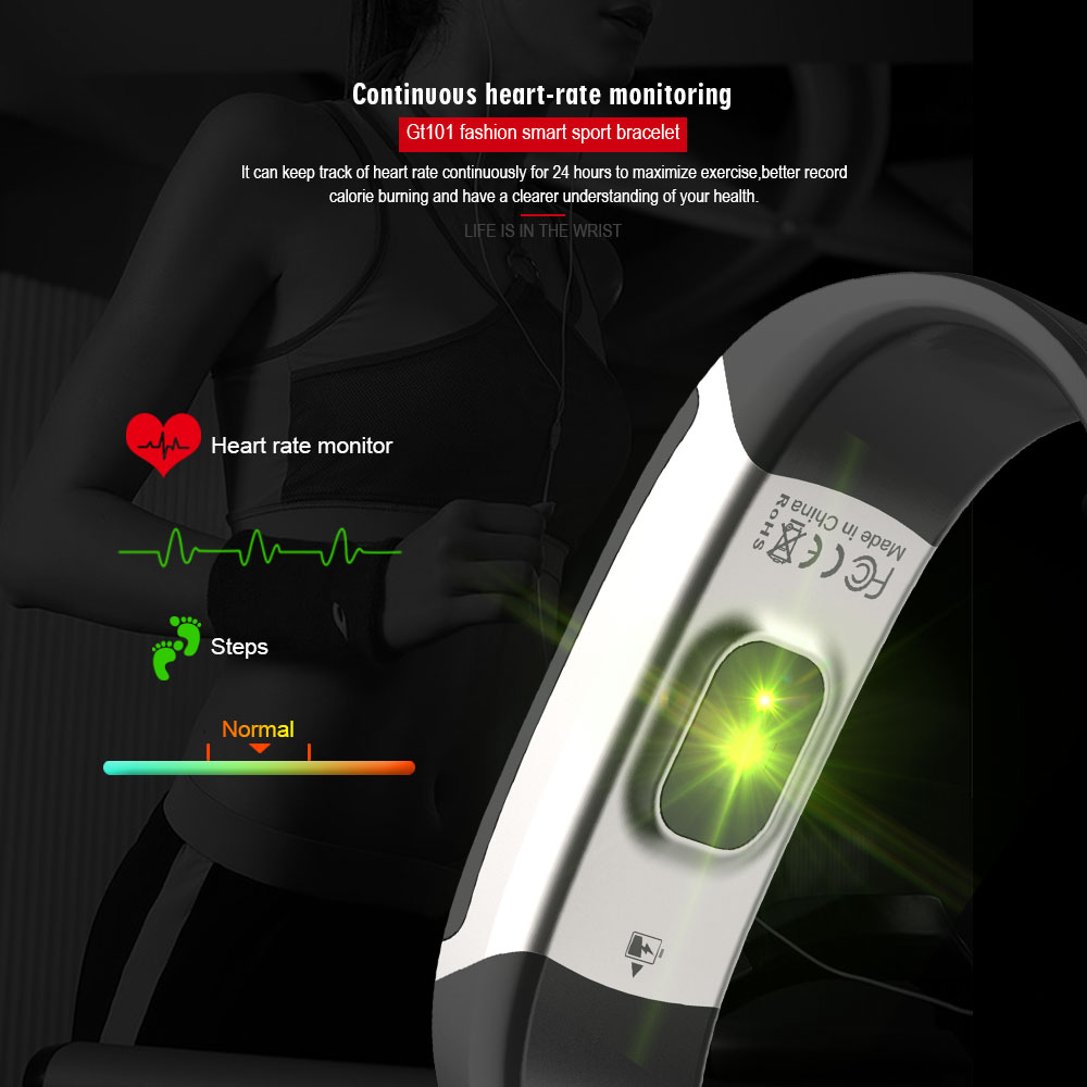 GT101-Smart-Bracelet-Color-Screen-Multi-Language-Message-Push-Continuous-Heart-Rate-Monitor-Fitness-Tracker