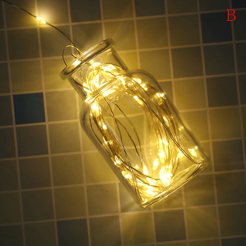 Copper Wire LED String Lights 5M Waterproof Fairy Light Outdoor Solar Powered Christmas Holiday Garden Decoration 4 Colors