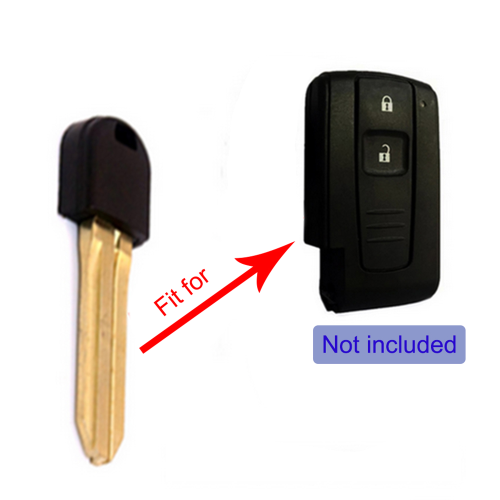 2 New Key Fob Blade For Toyota Prius Hybrid Smart Remote Emergency Blank Insert