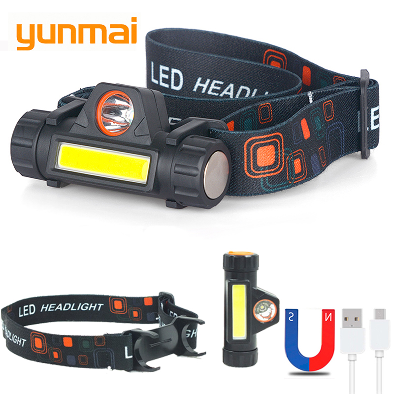 2-Led-COB-head-lamp-car-inspect-light-Led-head-lamp-head-flashlight-USB-rechargeable-headlamp - 副本 - 副本