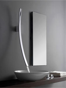 Waterfall Basin Faucet Tap Sink Concealed Wall-Mounted Bathroom Mixer Chrome Single-Handle