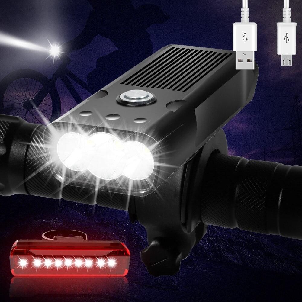 Велосипедный светильник L2/T6, 20000 люмен, Перезаряжаемый USB, 5200 мАч, велосипедный светильник IPX5, водонепроницаемый, светодиодный, Головной фонарь, аккумулятор, Аксессуары для велосипеда