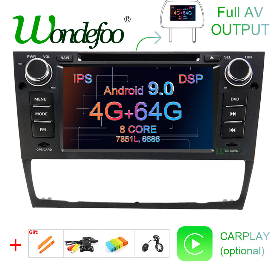 Ohok Android 9.0 Car Audio for BMW 3 Series//E90 E91 E92 E93 1 Din Autoradio Octa Core Stereo 4G+32G Sat Nav Supports GPS Bluetooth Android Auto CarPlay WLAN Dab USB OBD2 SWC AV-Out,7 /écran Tactile