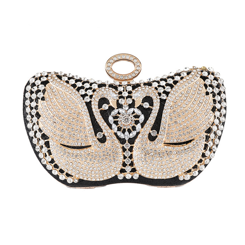 Women/'s Evening Bag Luxury Glitter Swan Handbag Fashion Party Crossbody bag For Women High Quality Messenger Bag Classical Lady