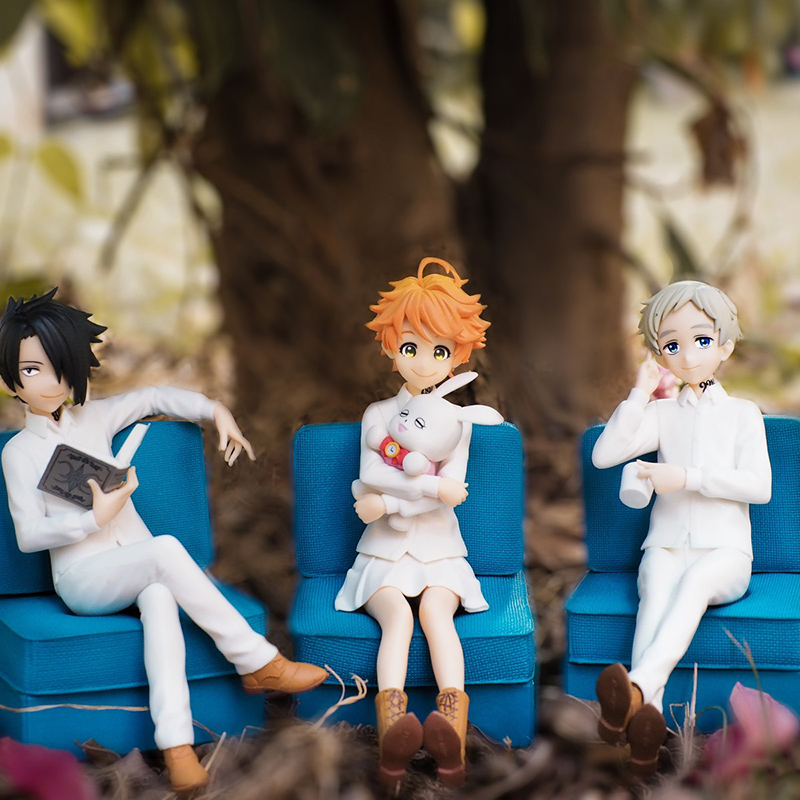 3pc//Set Anime The Promised Neverland Emma Sofa Emma Norman Ray PVC Figure No Box
